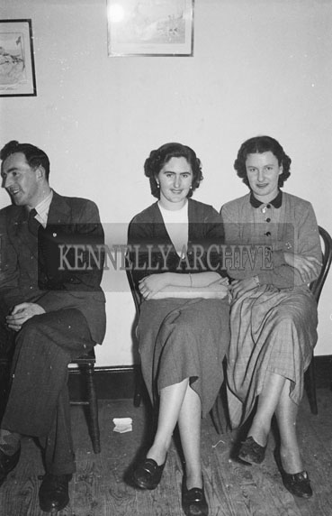 January 1954; People Enjoying The Night At The Macra na Feirme Social At The Meadowlands Hotel, Tralee.