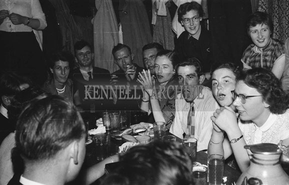 August 1954; A photo taken on the IPSF (International Pharmaceutical Students' Federation) study tour of Frankfurt, Germany.