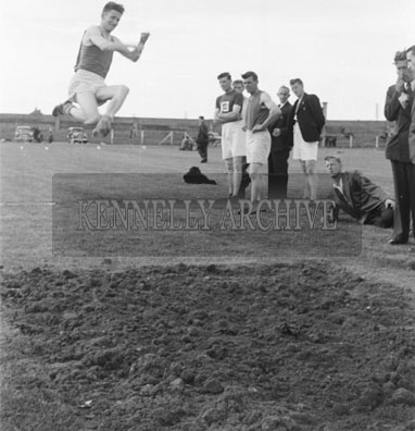 29th August 1954; An Action Shot Of A Long Jump Event At The Kerry's Sports Day Out In Tralee.