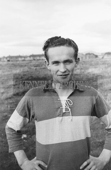 September 1954; The Captain Of The Kerry Minor Football Team Of 1954 Tim Barrett.