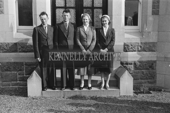 September 1954; A Photo Taken At A Double Wedding At The Presentation Convent, Tralee.