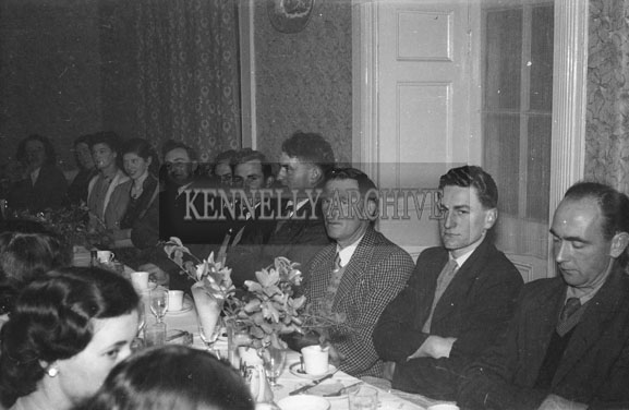 January 1954; A Group At Their Table At The Dominican Choir Social At The Grand Hotel, Tralee.