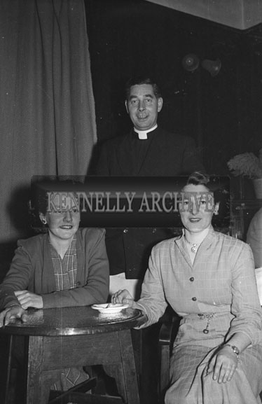 January 1954; A Group Posing At The Dominican Choir Social At The Grand Hotel, Tralee.
