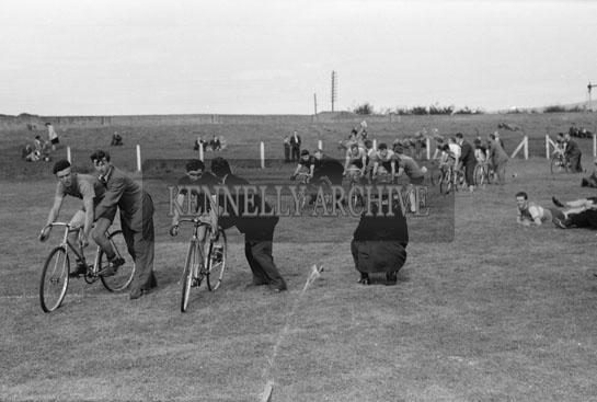 29th August 1954; The Start Of A Bicycle Race At The Kerry's Day Out Sports Carnival In Tralee.