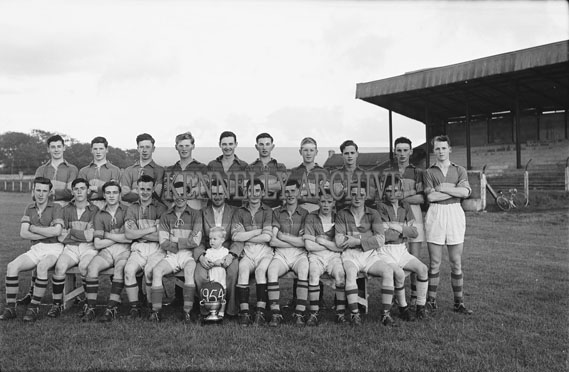 September 1954; The Boherbee Minor Football Team Posing With Their Cup At Tralee.