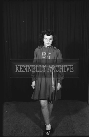 September 1954; A Studio Shot Of A Young Girl Irish Dancing.