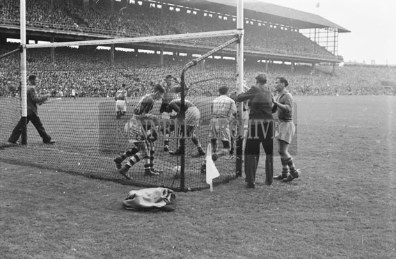 26th September 1954; An Action Shot From The All-Ireland Minor Football Final At Croke Park Between Kerry And Dublin. Dublin Won 3-3 To 1-8.