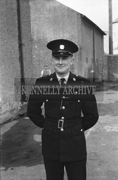 September 1954; A Photo Of A Garda Posing In Tralee.