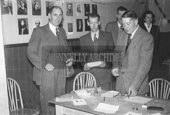 January 1954; A Pioneer Pin Presentation At The CIE Hall In Tralee.