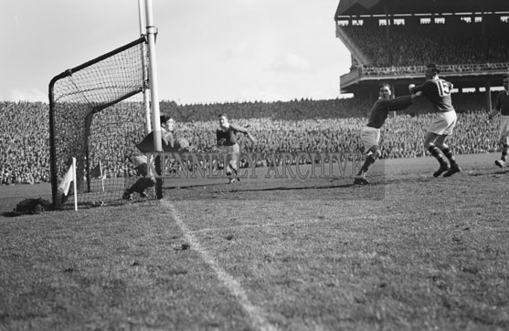 26th September 1954; An Action Shot At The All-Ireland Senior Football Final Between Kerry And Meath. Meath Beat Kerry 1-13 To 1-7.
