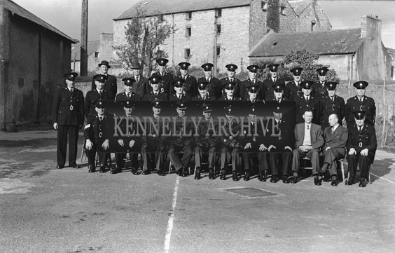 September 1954; A Group Of Gardai Posing For The Camera In Tralee.