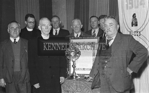31st October 1954; Men And Clergy Posing At The 50th Anniversary Procession To Ardfert Abbey.