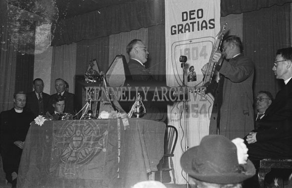 31st October 1954; The Deo Gratias Scroll At The 50th Anniversary Procession To Ardfert Abbey.