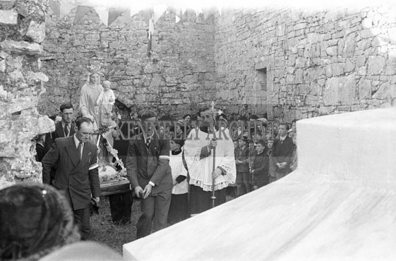 31st October 1954; The Mass At The 50th Anniversary Procession At Ardfert Abbey.