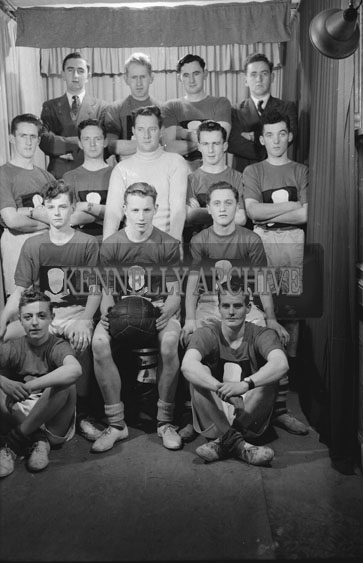 November 1954; The Kerryman Basketball Team Posing For The Camera In Studio In Tralee.