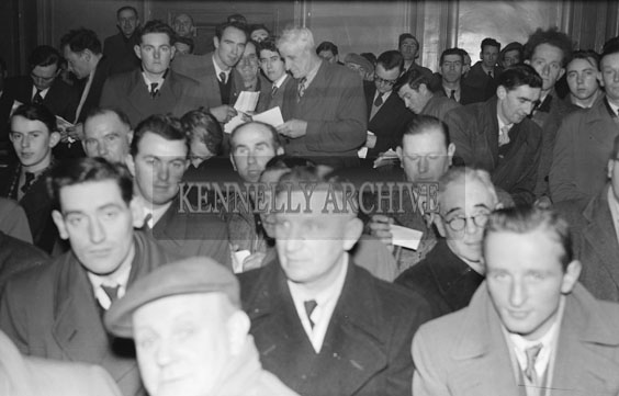 8th November 1954; A Photo Of The Crowd Who Attended The Kerry County Board Convention.