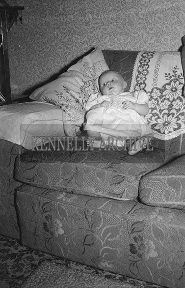 December 1953; Baby Mary Fitzmaurice At Home During Christmas.