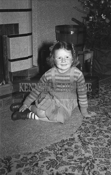 December 1953; Fitzmaurice Child At Home During Christmas.