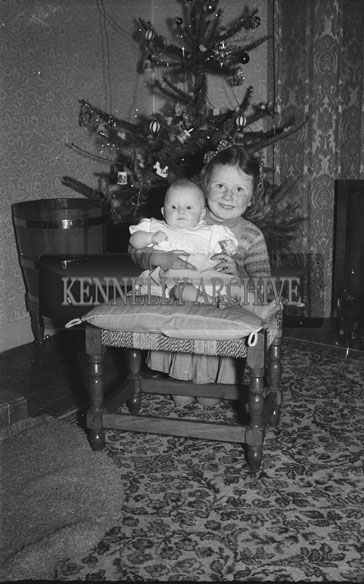 December 1953; The Fitzmaurice Children At Home During Christmas