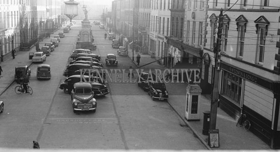 November 1954; A Photo Of Denny Street In Tralee.