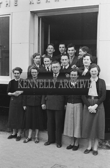 December 1954; A Photo Of The Kerryman Staff At The Kerryman Office In Tralee.