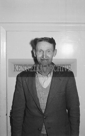 December 1954; A Photo Of A Staff Member Of The Kerryman Newspaper, Tralee.
