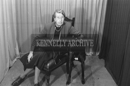 December 1954; A Studio Photo Of Mrs Hayes Of The Kerries With A Winning Greyhound.
