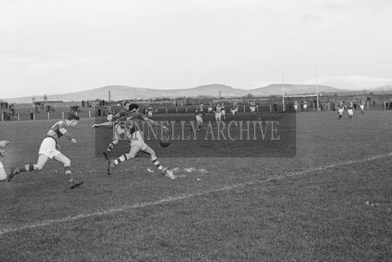 November 1954; An Action Shot From A Football Match In Tralee.