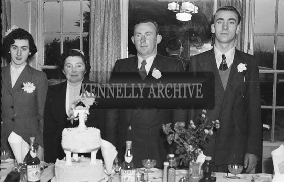 27th November 1954; The Wedding Party At The O'Donoghue (Of Deelis, Camp) Wedding Reception In The Meadowlands Hotel, Tralee.