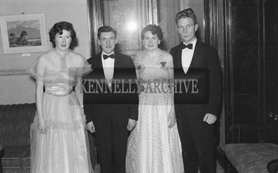 8th December 1954; A Group Of People Posing For The Camera At The Tralee Tennis Dance Held At The Lake Hotel In Killarney.