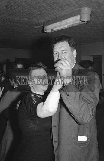 11th December 1954; A couple dancing at the Kerins O'Rahilly's Social in the Meadowlands Hotel, Tralee.