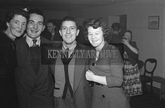11th December 1954; People enjoying the night at the Kerins O'Rahilly's Social in the Meadowlands Hotel, Tralee.