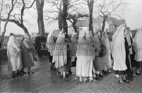 12th December 1954; The Opening Of The Marian Year Grotto By The Bishop Of Kerry, Most Rev. Dr Denis Moynihan.