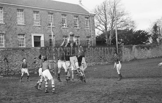 December 1954; The Tralee CBS The Green School Football Team Practising Their Skills In A Training Session.