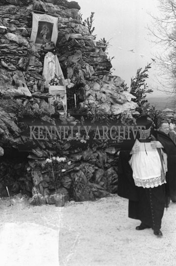 19th December 1954; The Opening Of The Marian Year Grotto By Canon D O'Connor At Kilmurry, Castleisland.