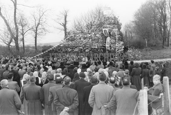 19th December 1954; The Crowd At The Opening Of The Marian Year Grotto By Canon D O'Connor At Kilmurry, Castleisland.