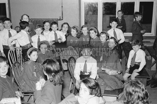 25th December 1954; A Group Photo Of Children During Santa's Visit To St Joseph's School, Tralee, During Their Christmas Concert.