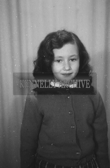 March 1955; A Studio Photo Of A Girl.