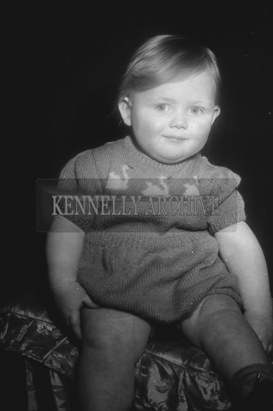 March 1955; A Studio Photo Of A Toddler.