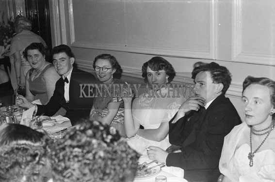 December 1955; A Group Of People Enjoying The Night At The Tralee Rugby Club Dance In Killarney.