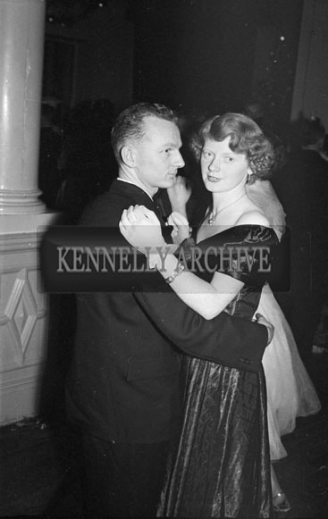 December 1955; Emmett Kennelly and Aileen Dance At The Tralee Rugby Club Dance In Killarney.