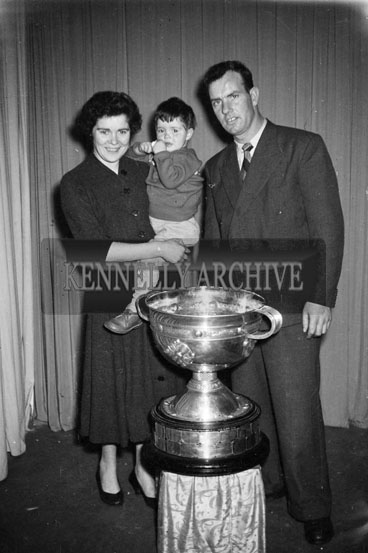 December 1955; Jack Falvey And Family Of Coumduff, Annascaul, Co. Kerry With The Sam Maguire Cup.
