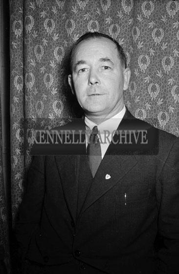 December 1955; A Studio Portrait Of A Man.