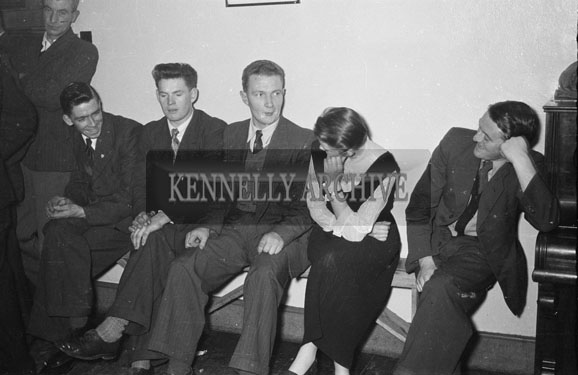 January 1956; A Group of People Enjoying the Night at the Ballymacelligott Young Farmer's Social at the Meadowlands Hotel, Tralee.