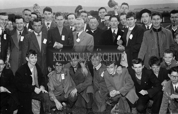 2nd September 1956; Members of the Castleisland Sports Committee pose for the camera at the Castleisland Sports Day.