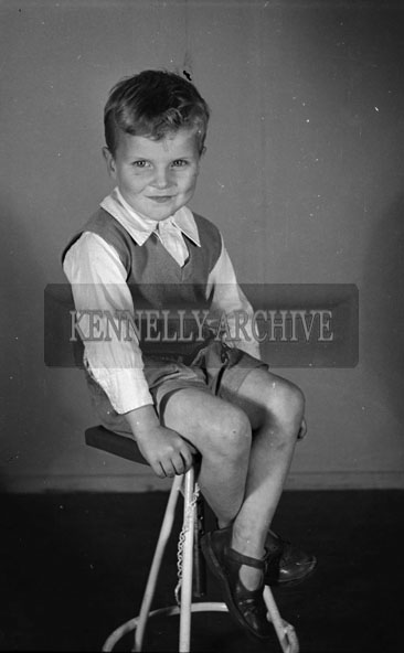 1956; A photo of Master Daly from Castle Street taken at the studio in Tralee.