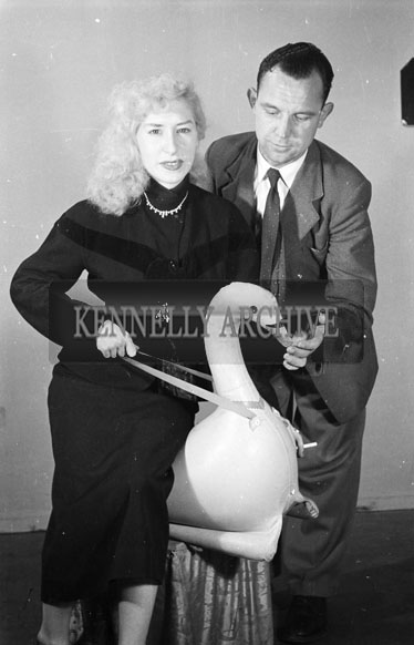 9th September 1956; A photo of Marilyn and Joe Treacy taken at the studio in Tralee.