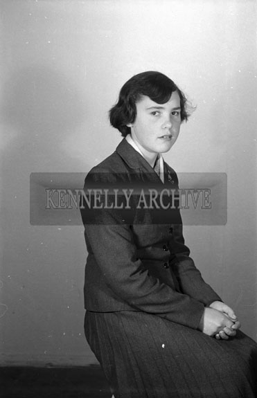 16th September 1956; A Confirmation photo of Miss Teehan taken at the studio in Tralee.