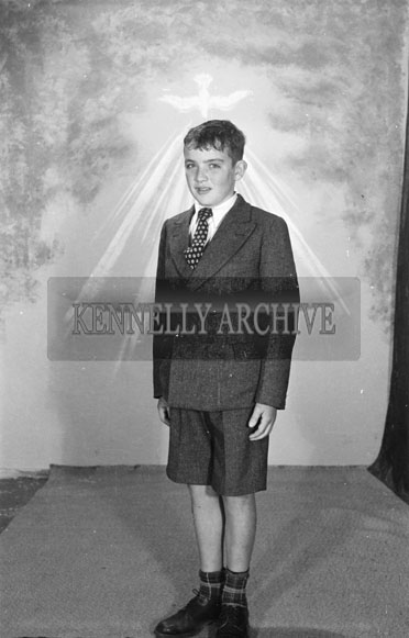 16th September 1956; A photo of Master Condon from St Brendans Park taken on Confirmation Day in Tralee.