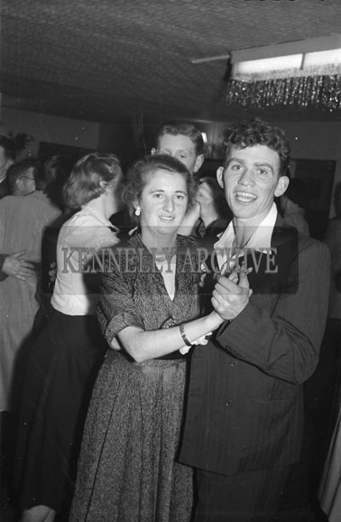 5th January 1956; A Couple Dancing At The Duagh GAA Social In The Meadowlands Hotel, Tralee.